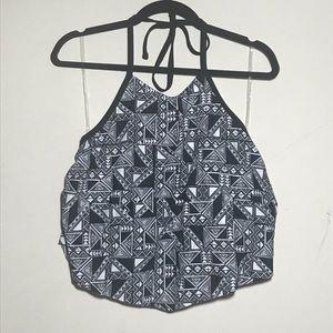 Other - Geometric Design Plus Size Flounce Bikini Top
